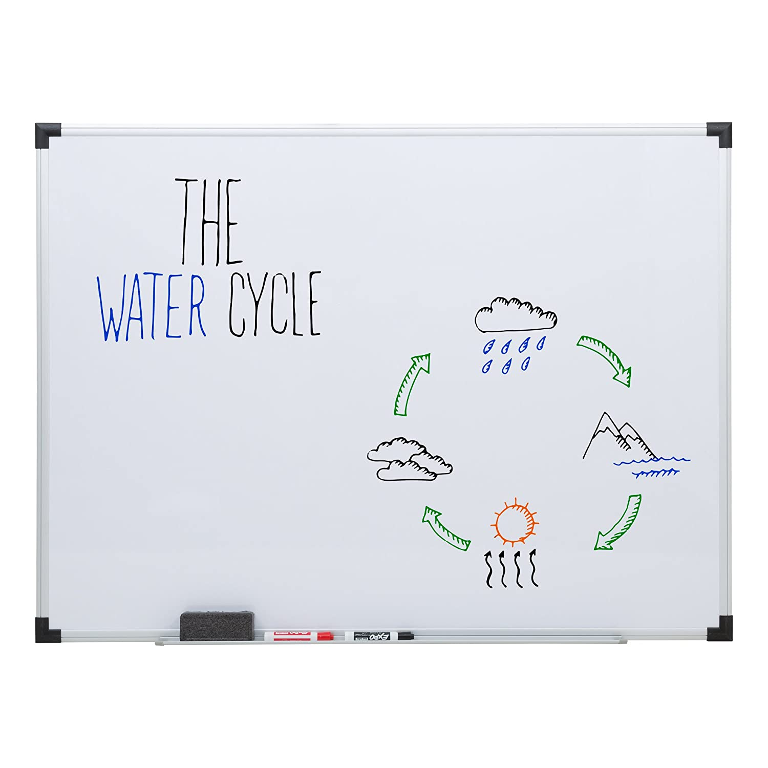 Norwood Commercial Furniture Dry Erase Marker Board with Aluminum Frame, 4' W x 3' H, NOR-ATA1012-SO