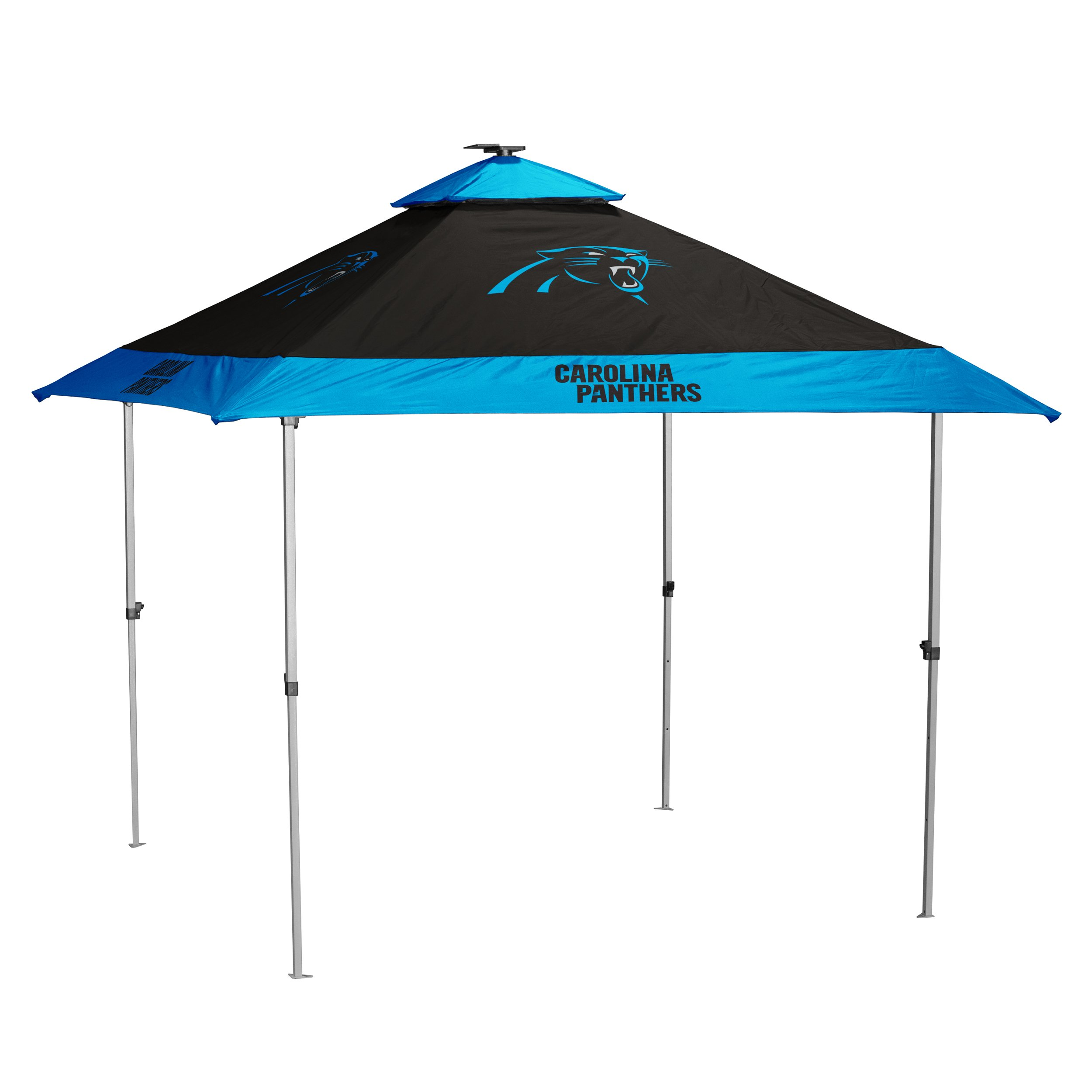 Logo Brands NFL Carolina Panthers Pagoda Tent Pagoda Tent, Charcoal, One Size