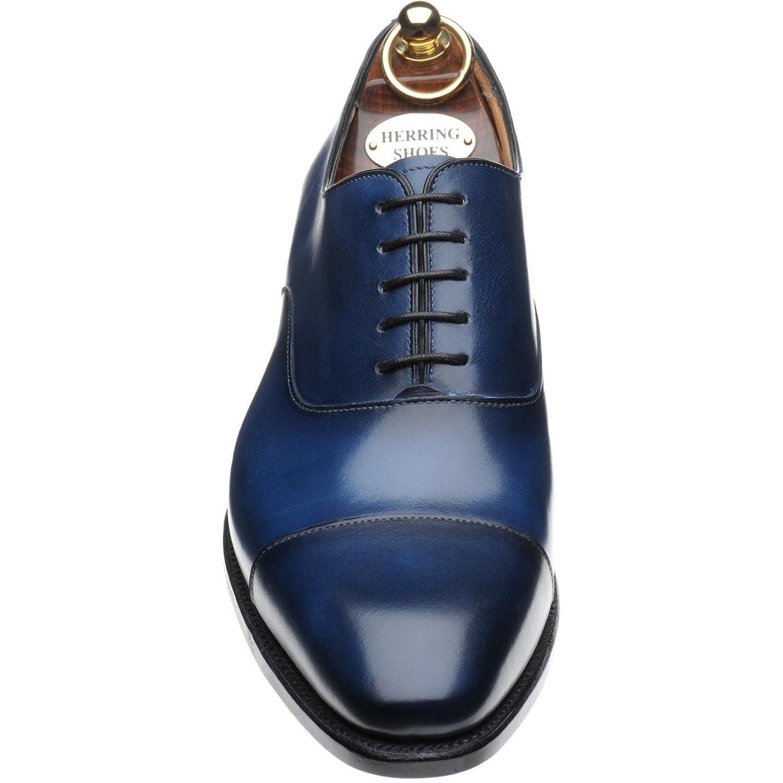 Le Hareng Hareng - Dickens Chaussures À Lacets Pour Les Hommes Veau Bleu Marine, Couleur Bleu, Taille 40.5