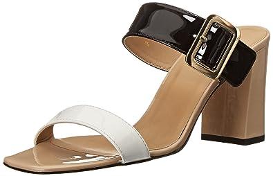 VANELi Women's Trill 182391 Dress Sandal, White Mag Patent/Black Mag Patent/ Ecru
