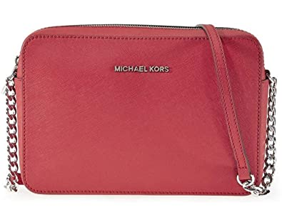 12e59c6d6657 MICHAEL Michael Kors Women's Jet Set Cross Body Bag, Bright Red, One Size
