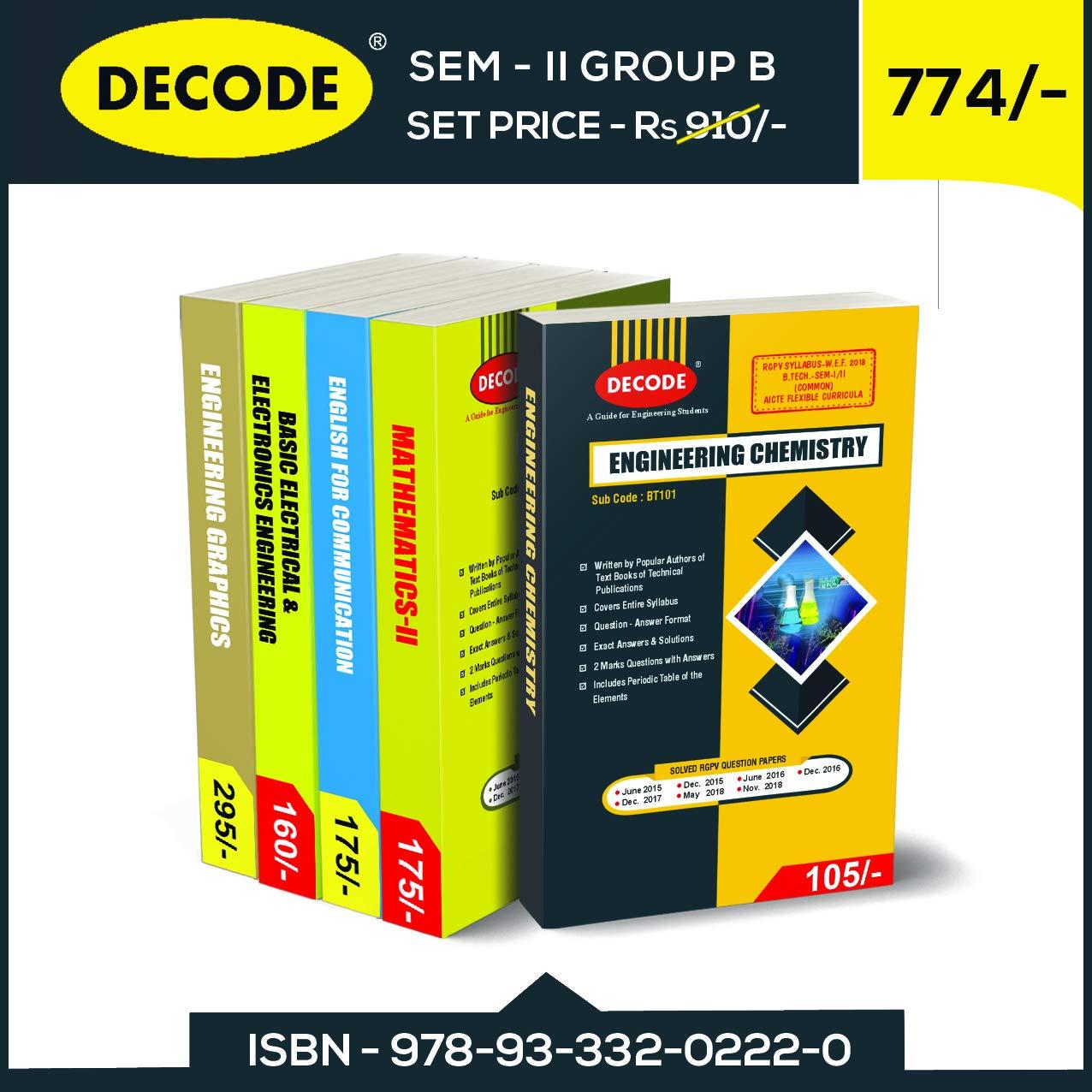 Buy DECODE SEM-II Group B for RGPV 2018 Syllabus Book Online