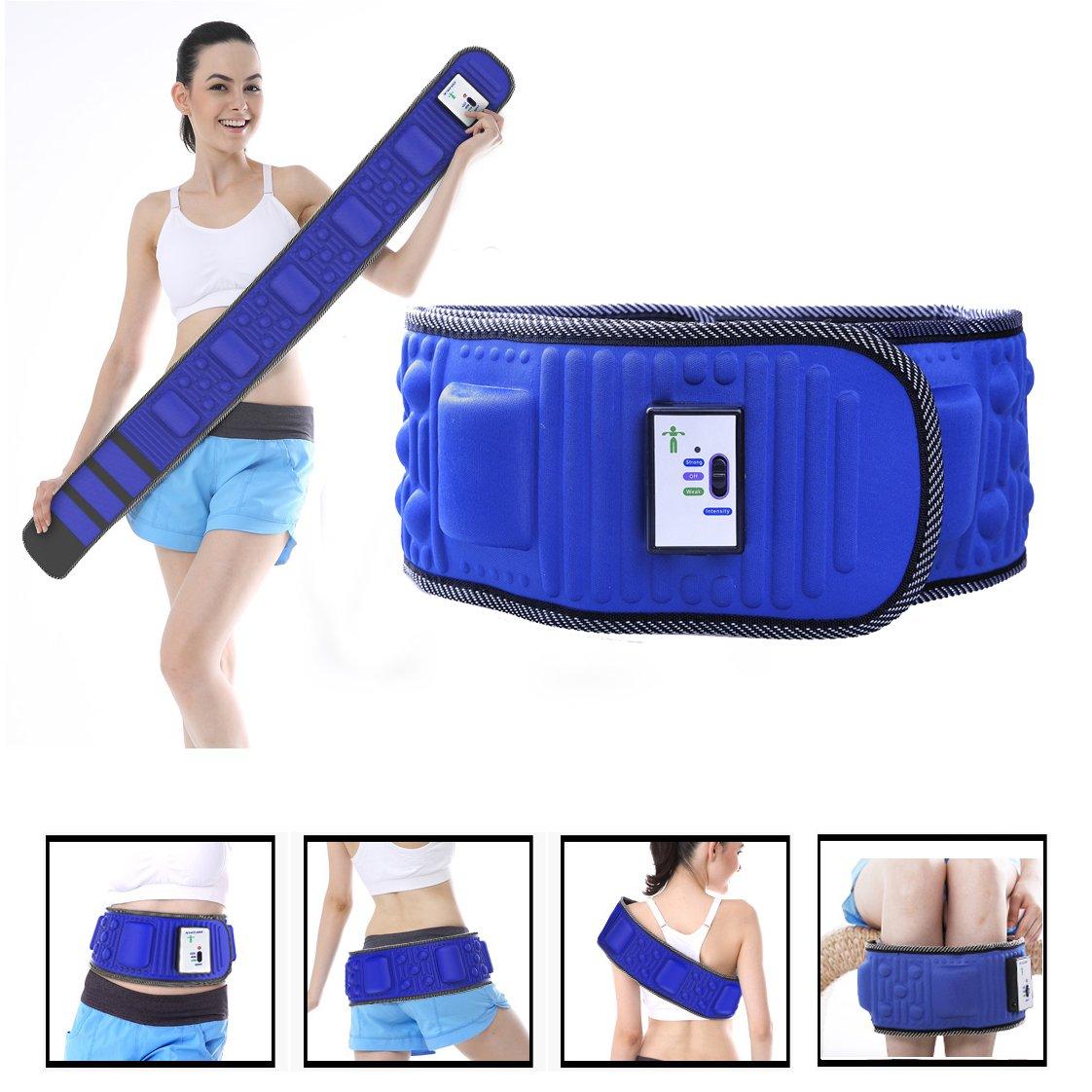 Vinteky® Cinturón Electroestimulador Abdominal Cinturón Vibratorio para Masaje con Intensidad Ajustable Quemador