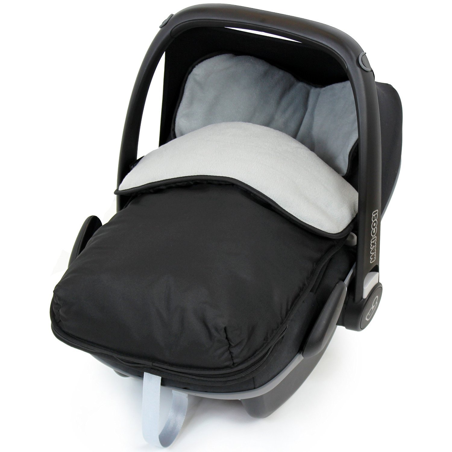 Universal Car Seat Footmuff To Fit Mamas and Papas - Grey ( Black / Grey) iSafe iSBgtCrsFmBlue