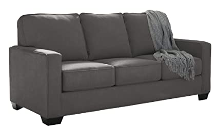 Ashley Furniture Signature Design   Zeb Contemporary Sleeper Sofa   Full  Size Mattress Included   Charcoal