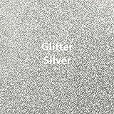 "Arts & Crafts : Siser Glitter Heat Transfer Vinyl 20"" x 12"" Sheet (Silver)"
