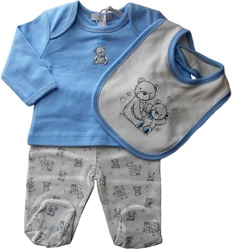 Recién nacido/1 M Baby Boys - azul y blanco crema Bears Top mujer ...