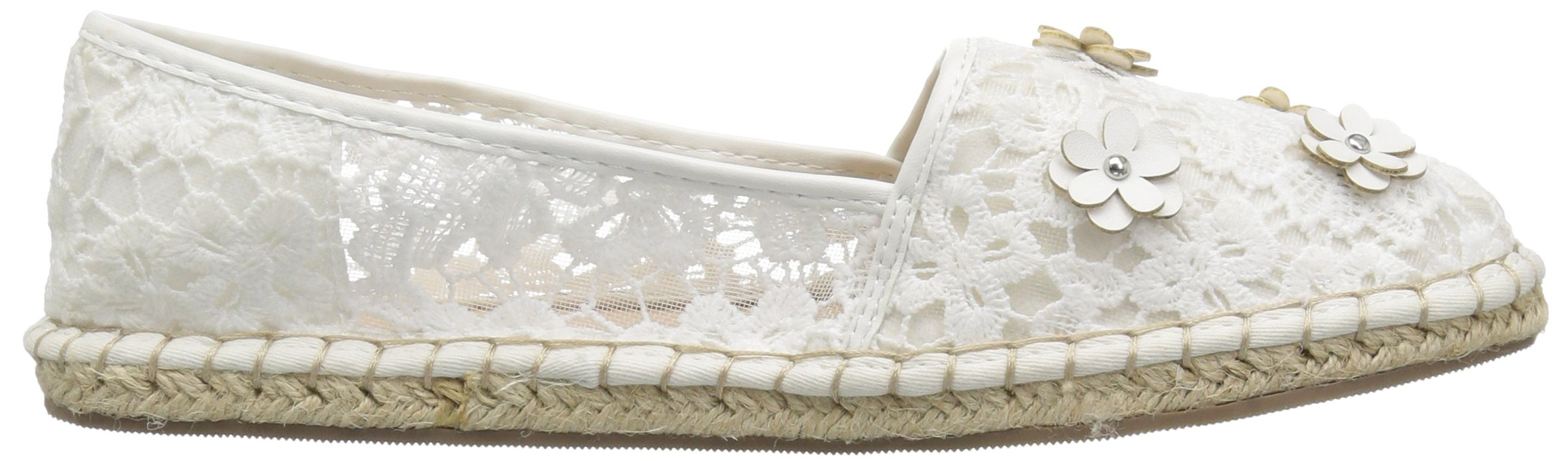 The Children's Place Girls' BG Lace Espadril Slipper, White, Youth 3 Medium US Big Kid by The Children's Place (Image #7)