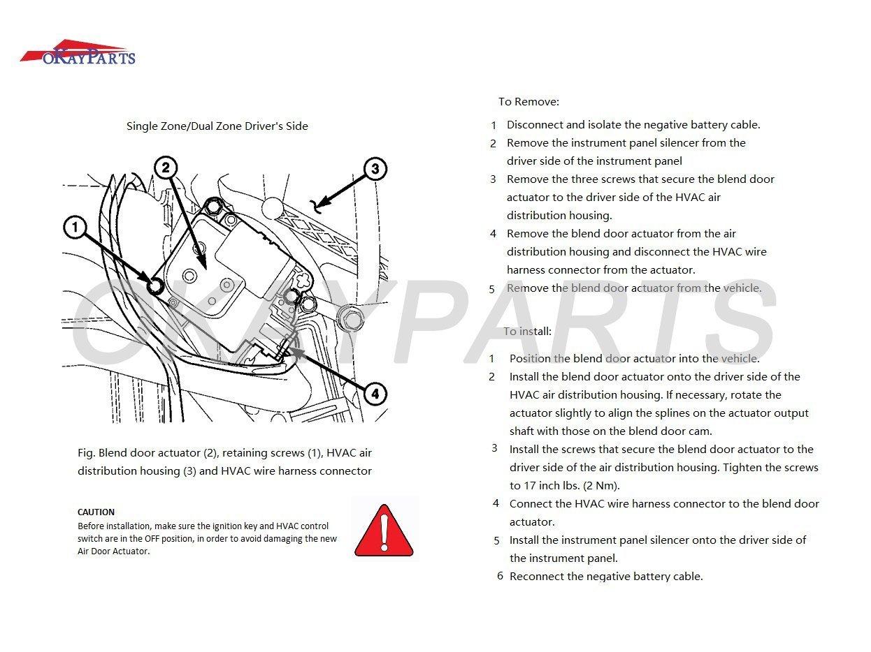 Okayparts Ok120a Hvac Heater Blend Door Actuator For 4 Wire Silverado Diagram Buick Cadillac Isuzu Oldsmobile Chevy Gmc Replace 15 73599 89018373 89018678 604 120