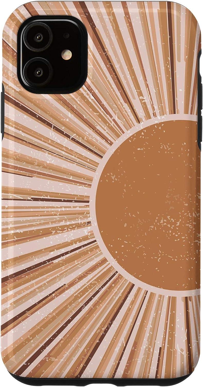iPhone 11 Minimalist Abstract Sun Boho Chic Fashion Southwestern Decor Case