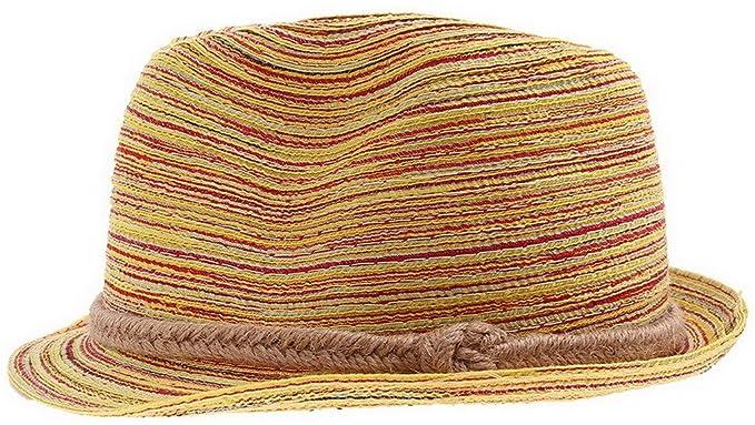 c88299d5c83 La Vogue Unisex Children Kids Rollable Panama Hat Rainbow Fedora ...