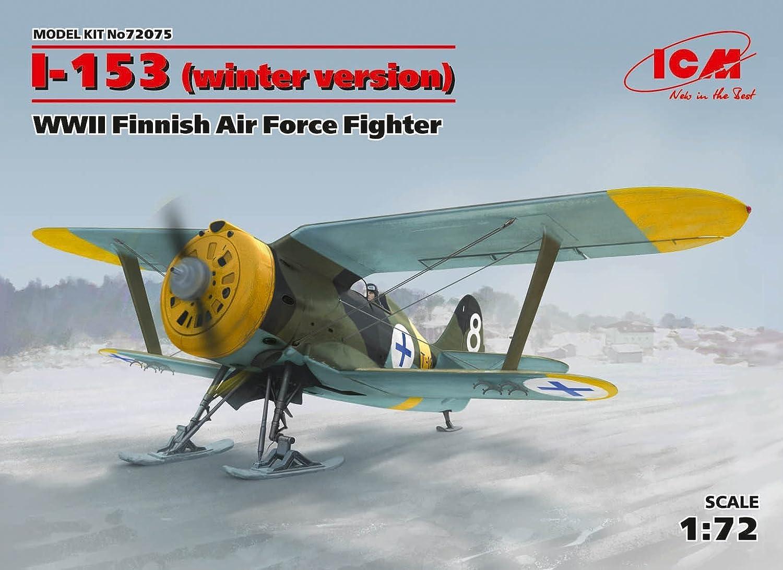 プラスチックモデル飛行機i-153、WWIIフィンランド空軍戦闘機1 / 72 ICM 72075 B06XSM5H7H