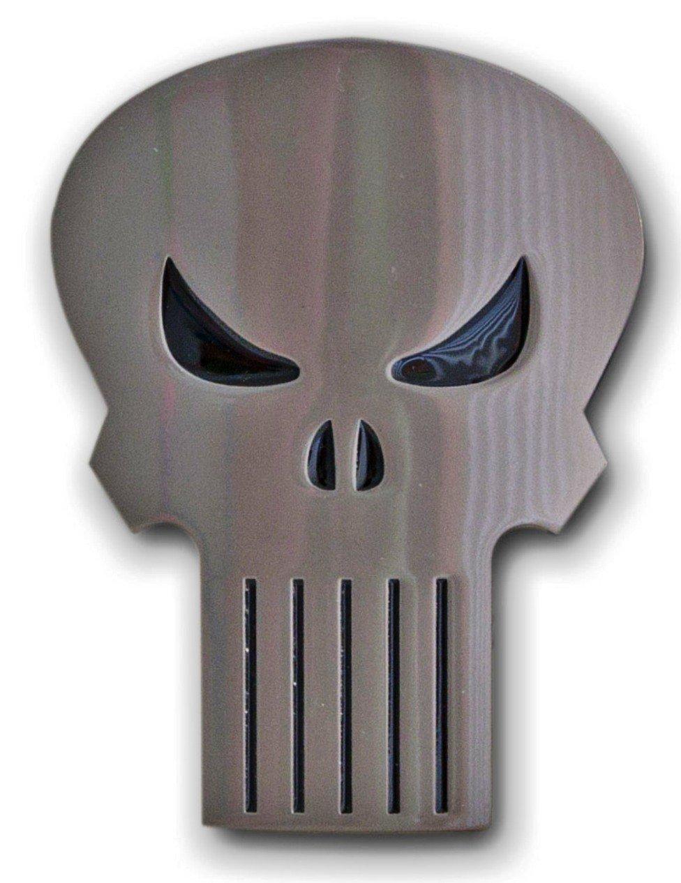 The PUNISHER Classic SKULL Logo Metal BELT BUCKLE