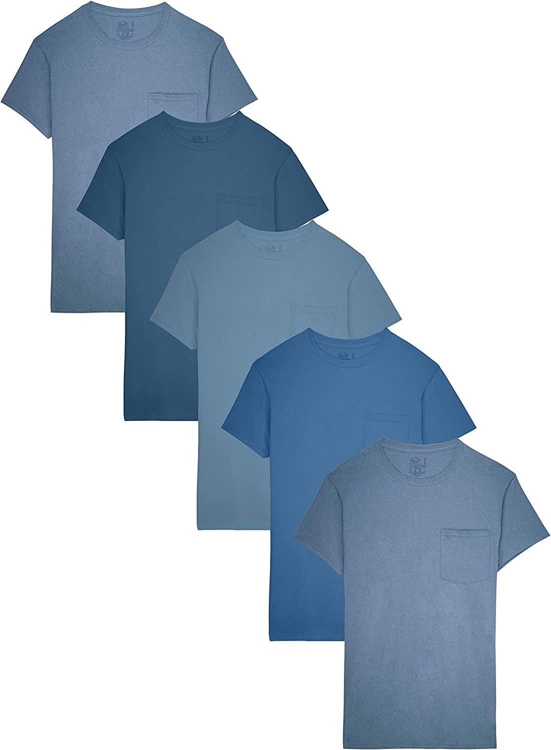 Fruit of the Loom Mens Pocket T-Shirt Multipack