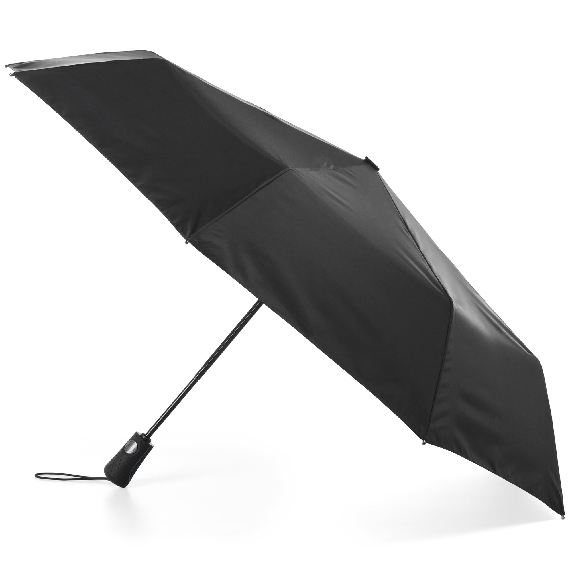 totes Automatic Open Water-Resistant Foldable Travel Umbrella