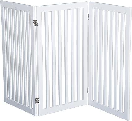 Pawhut® - Valla, barrera de seguridad para perros, de madera ...