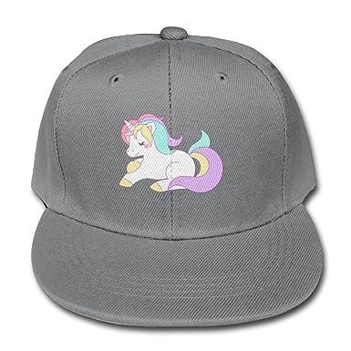 Solid Color Baseball Caps Trucker Hat Cute Pastel Rainbow Unicorn Boy-Girl a448e804d87