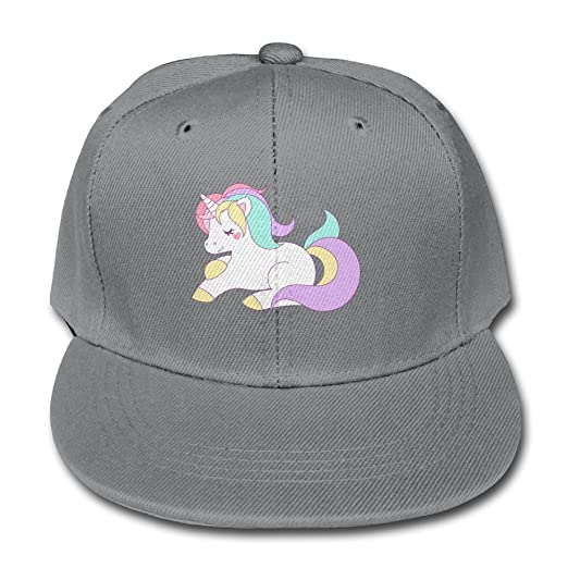 Chqeilng Oii Color Baseball Cap Cute Girly Pastel Rainbow Unicorn For  Boy-Girls Hats 03006f7a460