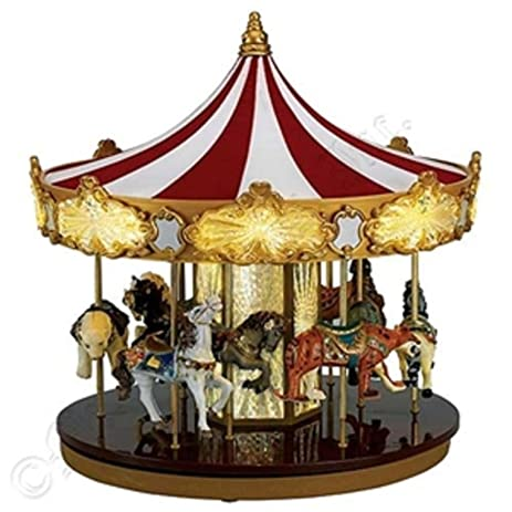 mr christmas animated musical celebration carousel decoration 19756