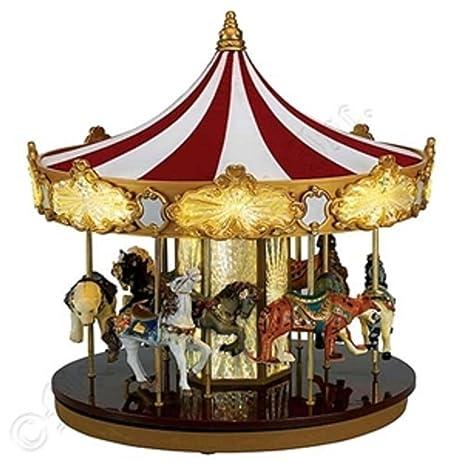 mr christmas animated musical celebration carousel decoration 19756 - Christmas Carousel Decoration