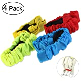 Tinksky 3-Legged Race Bands-4 Colors Elastic Tie Rope for 3-Legged Race Game