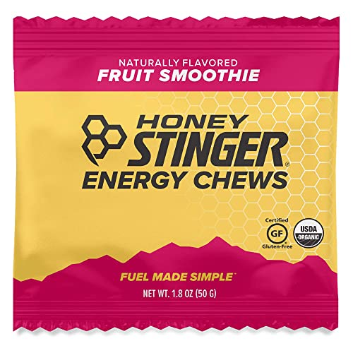 Honey Stinger Organic Energy Chews, Fruit Smoothie, Sports Nutrition, 1.8 Ounce Pack of 12