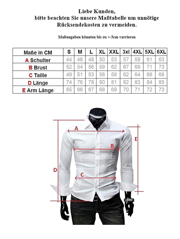Kayhan Hombre Camisa Manga Larga Slim Fit S 6XL Modello Monaco