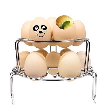 Apilable huevo Steamer rack [2 unidades], BELK actualizado multifuncional accesorio de salvamanteles de