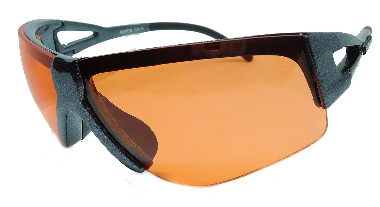 Fishbone Sonnenbrille Sportsonnenbrille für mittlere bis starke Sonneneinstrahlung mit Anti-Rutsch Bügeln Aspen B 59IrsRx