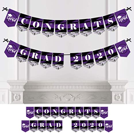 Type Select Graduation Flag /& Letter Banners 'Congrats Grad' 7' to 12'