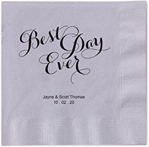 Canopy Street Best Day Ever Personalized Luncheon Napkins 6 1/2