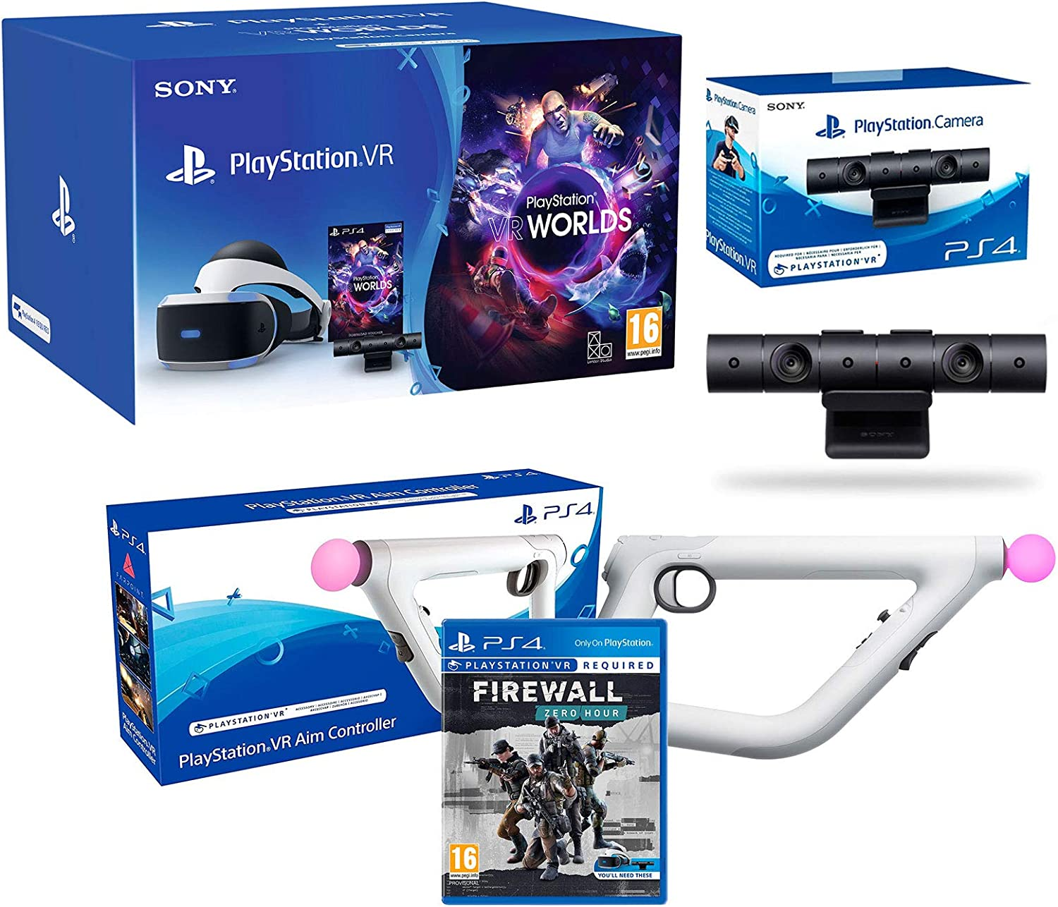 PlayStation VR2 (CUH-ZVR2) Pack Firewall: Zero Hour + Aim ...