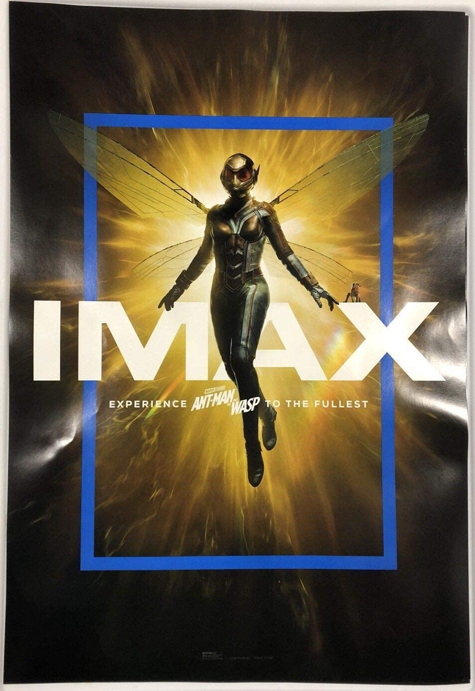 """Ant Man and The Wasp IMAX Original Not reprint exclusive poster 13"""" x 19"""" Marvel"""