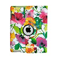 inShang Case for iPad 2 iPad 3 iPad 4 Premium PU Leather Multi-Function Stand Cover 360 degree Rotation, With Auto Sleep Wake Function