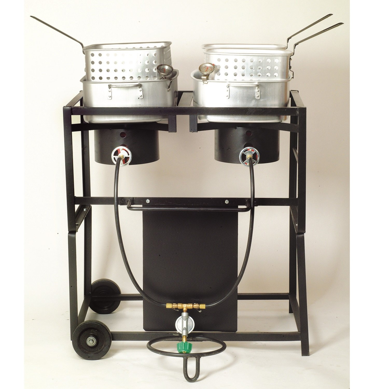 King cooker with Dual Frying Baskets