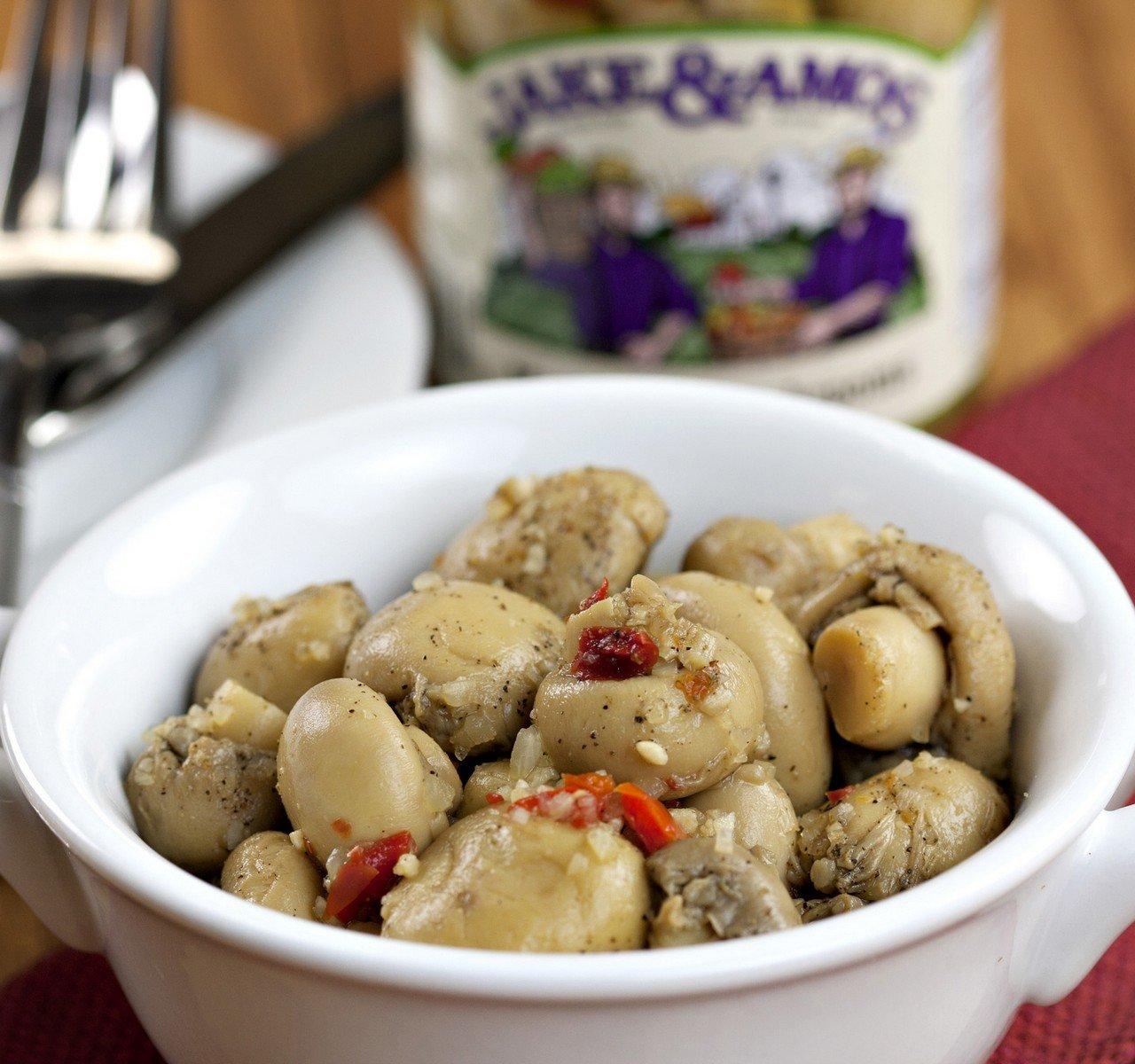 Jake & Amos Marinated Mushrooms, 32 Oz. Jar (Pack of 2) by Jake & Amos (Image #3)