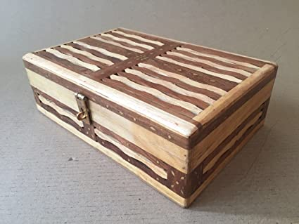 Wooden Jewellery Box With Fancy Wood Jali Work Handcrafted Utility Box 12 X 8 X 25 Inches