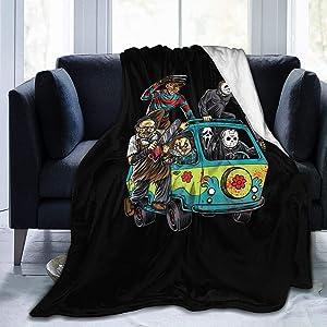 EVA GIBBONS Flannel Blanket Michael-Myers Horror Halloween Covers Throw Blanket for Bed Sofa Living Room Summer Small 50x40 in for Kids