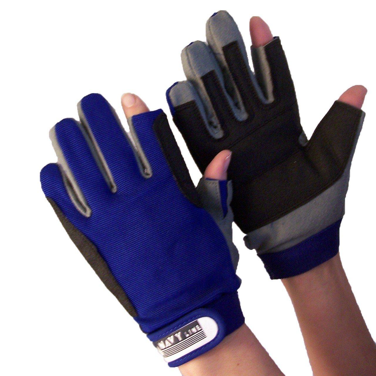 Handschuhe Navyline Segelhandschuhe Amara Kunstleder 2 Finger geschnitten Handschuhe Segeln Bootsport