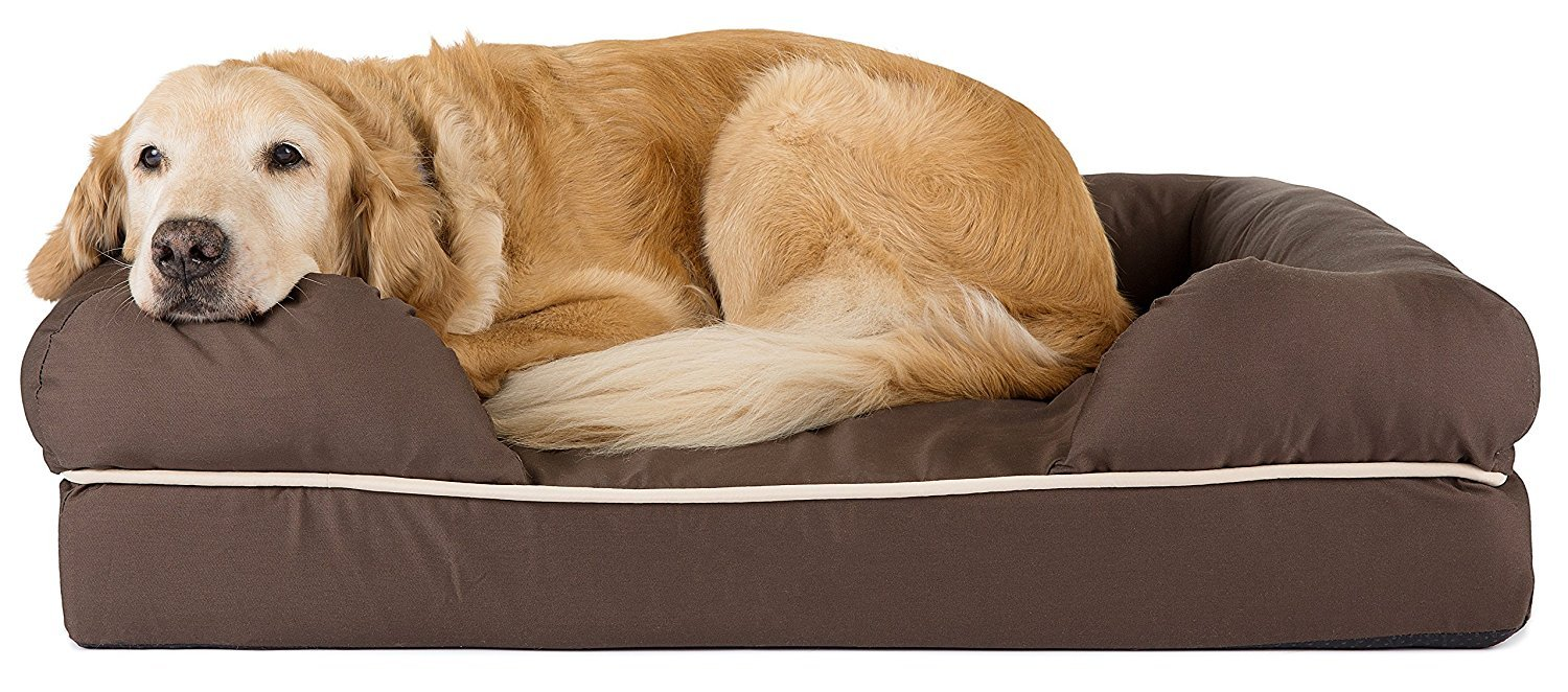 Cocoa XL Friends Forever 100% Suede Large Dog Bed Lounge, Prestige Edition (44  x 34  x 10 ) (Cocoa XL)