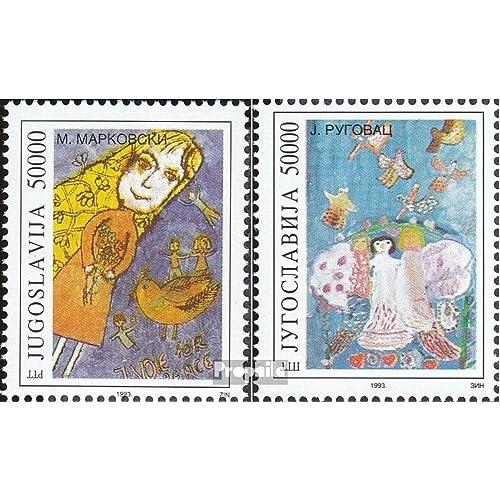 Yougoslavie 2599-2600 (complète.Edition.) 1993 dessins d\u0026#39;enfants (Timbres pour les collectionneurs)