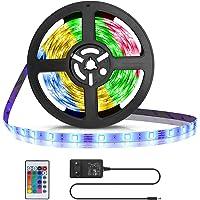 Aigostar LED Strip 3M, RGB LED Strip met Afstandsbediening, IP65 Waterdichte, LED Strip Light voor Thuis, TV, Slaapkamer…