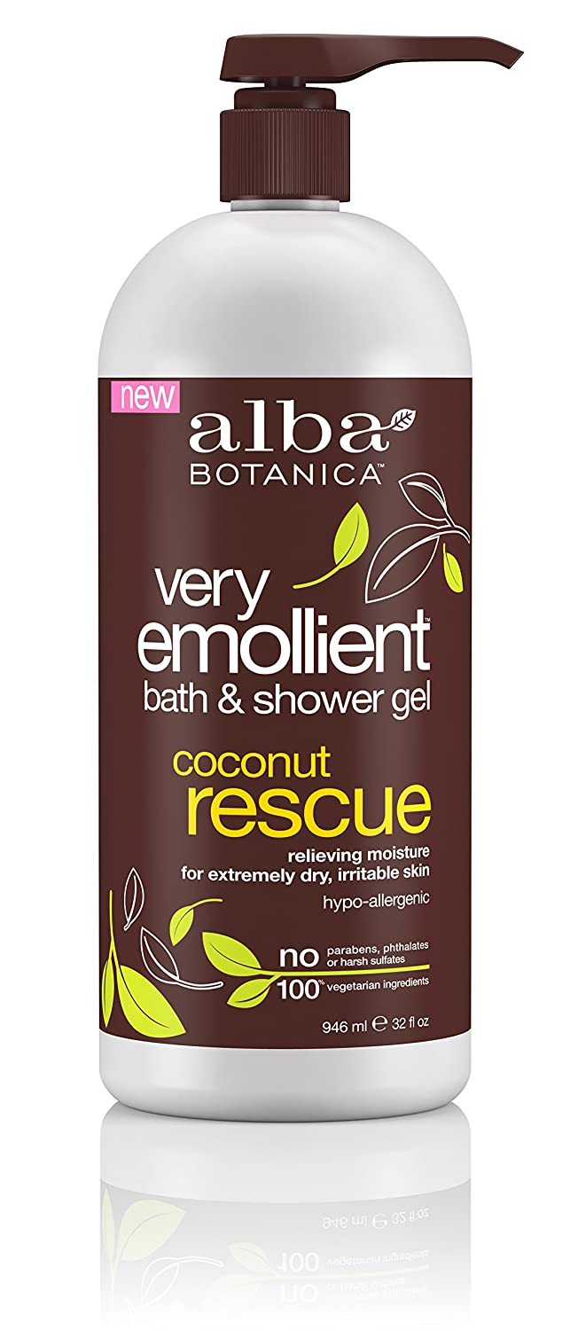 Alba Botanica Very Emollient Sparkling Mint Bath & Shower Gel, 32 oz. Alb-1679