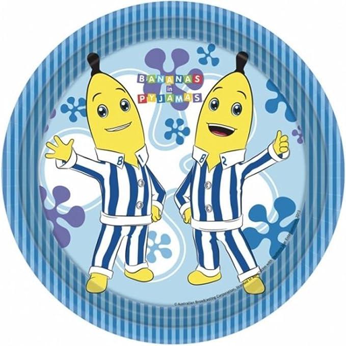 Portacubiertos de Fiesta de serie de dibujos animados Character Bananas en pijamas platos de papel 23