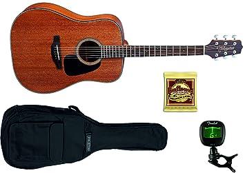 TAKAMINE GD11MNS Guitarra Acustica + Funda + Afinador Fender + Juego Cuerdas: Amazon.es: Electrónica