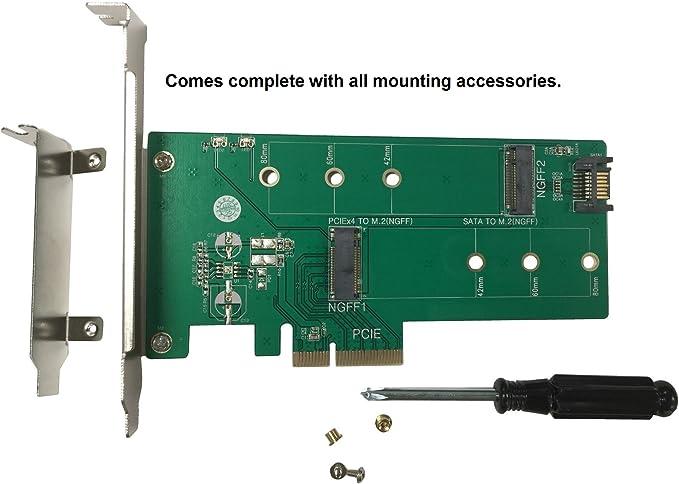 Vantec M.2 NVMe + M.2 SATA SSD PCIe x4 Adapter (UGT-M2PC200)