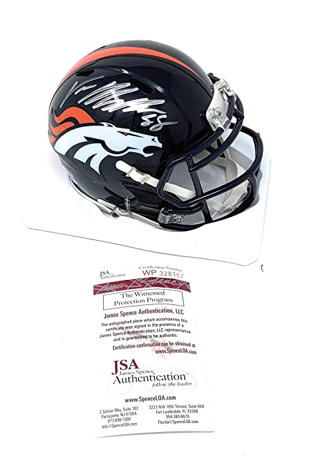 eea871384a4 Von Miller Denver Broncos Signed Autograph Speed Mini Helmet JSA Witnessed  Certified