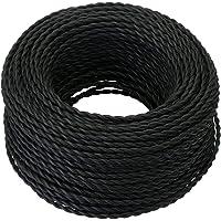 GreenSun LED-belysning 5-20 meter 2 kärnor textilkabel tvinnad tyglampa flexibel kabel kabel kabel kabel kabel kabel 5…