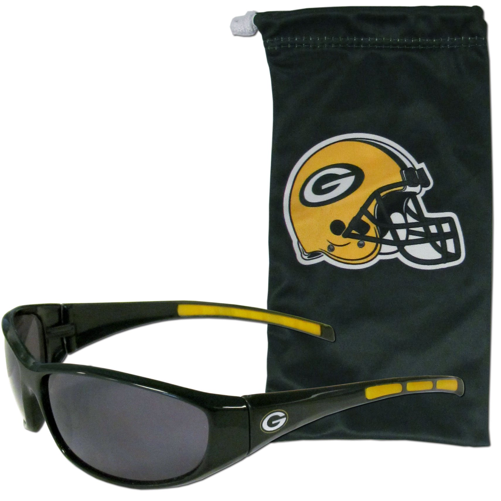 NFL Green Bay Packers Adult Sunglass and Bag Set, Green