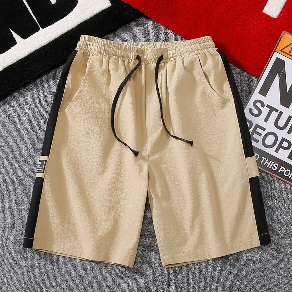 Sports Pants Gym Cargo Beach Shorts Mens Summer New Simple Fashion Belt Shorts Fashionable Pure Color Shorts